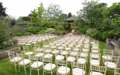 Wedding layout in sunken lawn